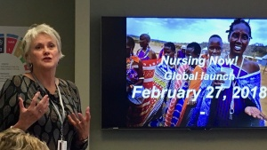 Presenting at IntraHealth International, USA