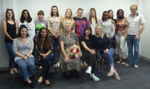Bouquet from students at Kingston University, UK